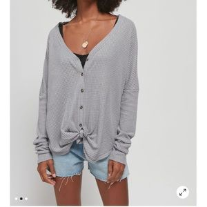 Jojo Oversized Thermal Button-Front Top *NEW*
